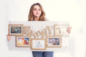 Оформлення фотографій в сімейну рамку
